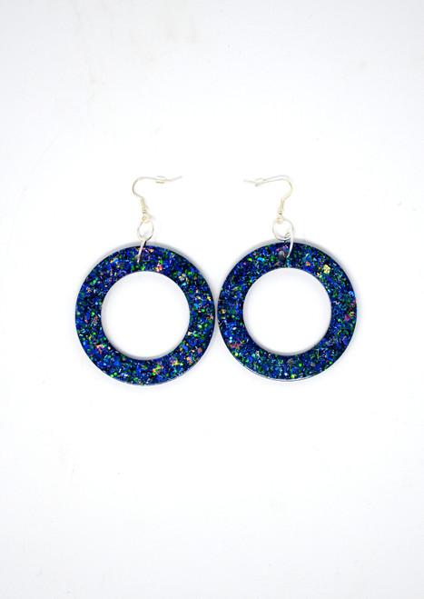 Sapphire Donuts | Handmade Glitter Earrings