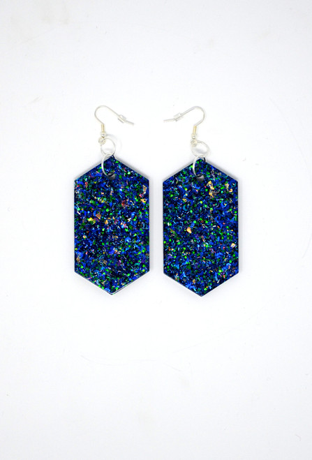 Sapphire Diamonds | Handmade Glitter Earrings