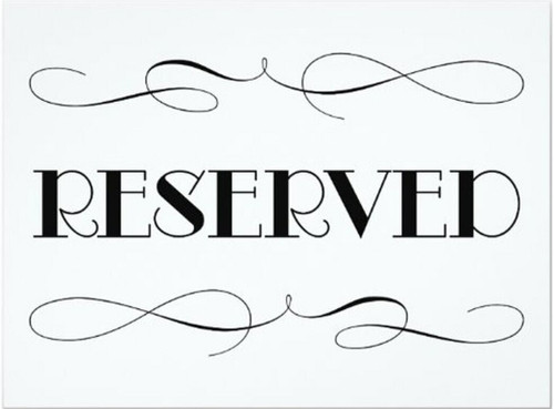 $12 Reserved Listing