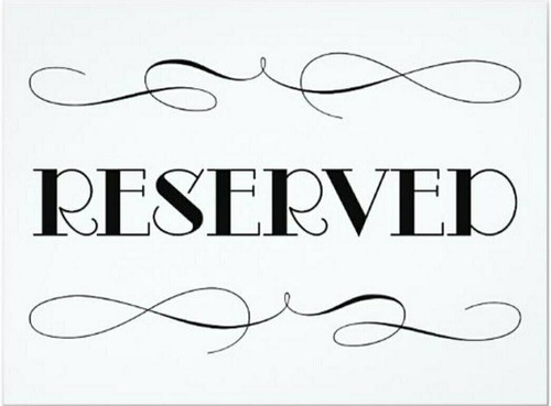 $28 Reserved Listing