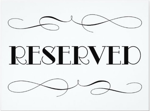 $98 Reserved Listing