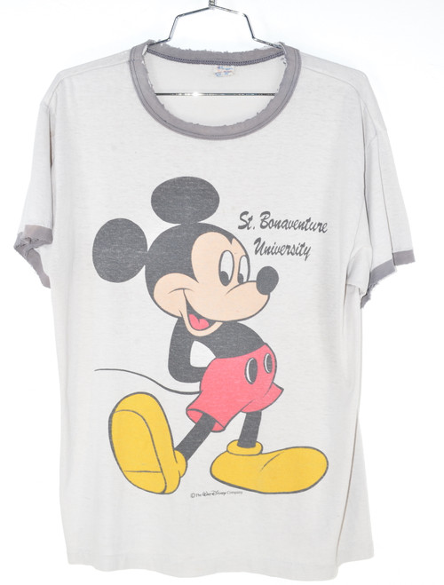 Made in USA Champion Mickey Mouse Ringer Tee
