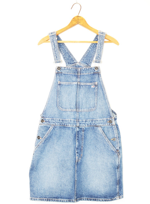 1990's Tommy Denim Overall Dress