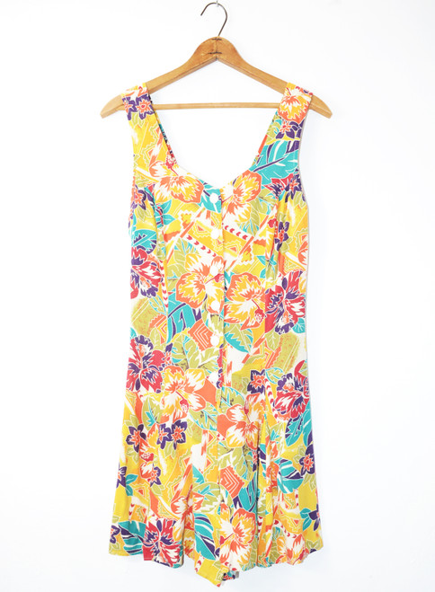 Tropical 1990's Rayon Romper