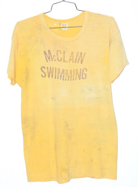 Made in USA Single Stitch McClain Swimming Tee