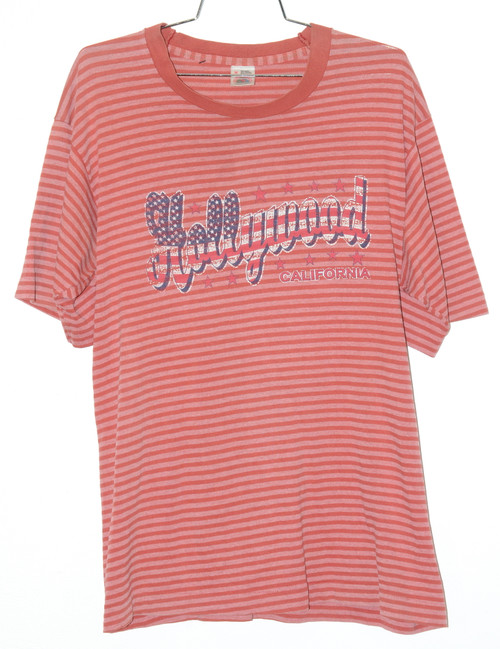 Made in USA Single Stitch Hollywood Striped Tee