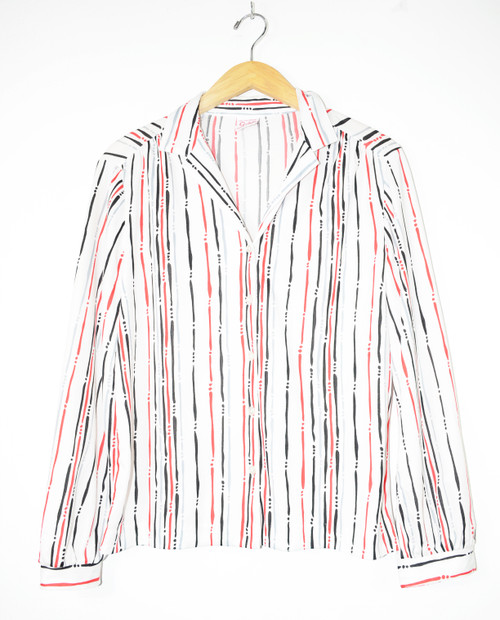 Abstract Striped Button Down