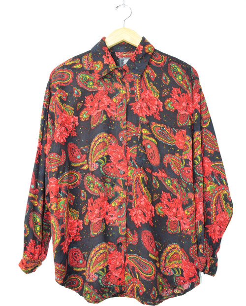 Paisley Long Sleeve Button Up