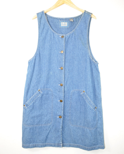 Liz Authentic Denim Coverall Dress