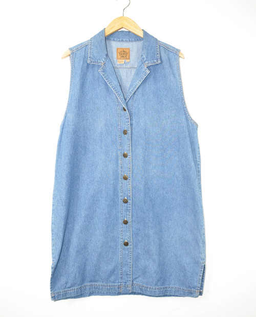 90's Denim Shirtdress