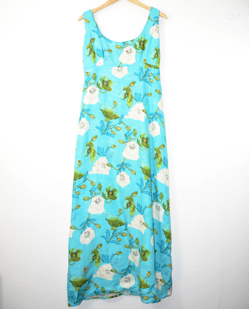 Handmade Blue Floral Dress