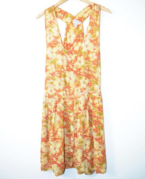 Floral Hawaiian Shirt Dress