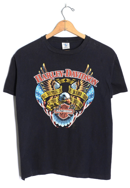 Killer Harley Tee from 1988. Front eagle graphic pops!