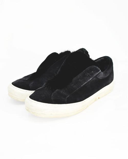 Salvatore Ferragamo Furry Suede Sneakers