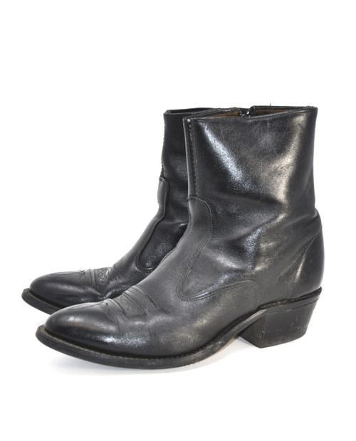 Leather Western Mid Boots