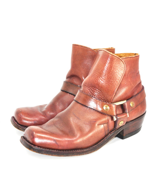 Leather Mid-Height Engineer Boots