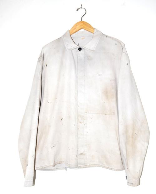 Thrashed Light Wash European Chore Coat