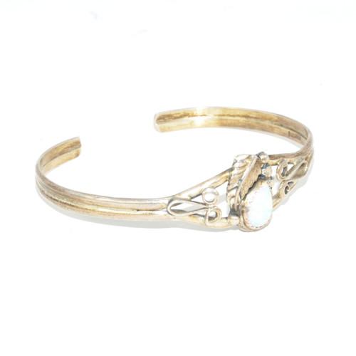 Navajo Lab Opal Cuff Bracelet