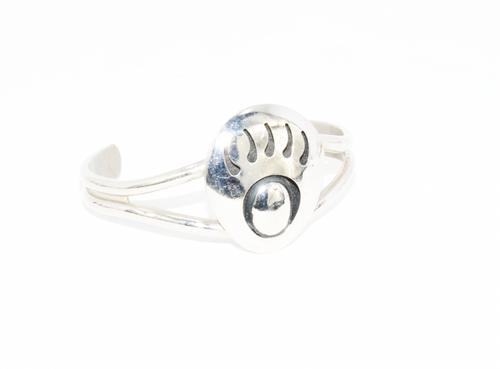 Navajo Bear Paw Cuff Bracelet