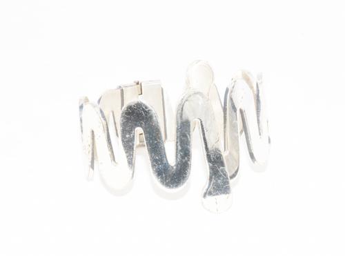 Zig-Zag Silver Cuff Bracelet