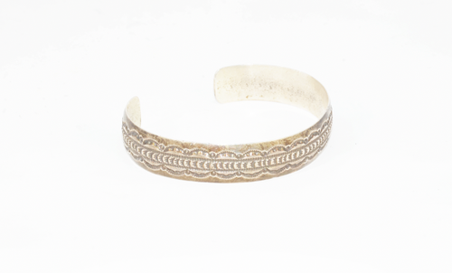 Embossed Silver Cuff