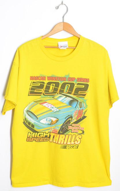 Nascar Big Yellow 2002 Winston Cup Racing T-Shirt