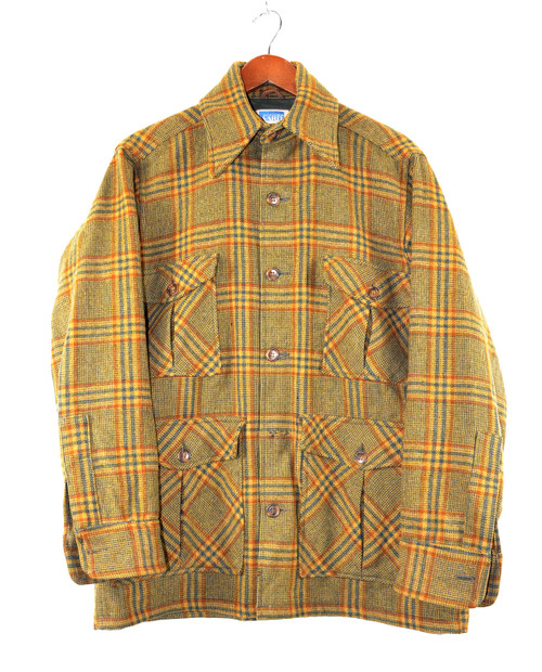 Plaid Four Pocket CPO Jacket