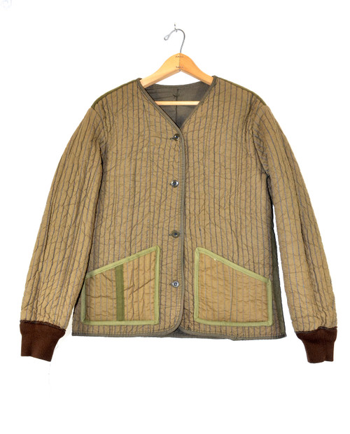 Upcycled Dyed Military Liner Jacket