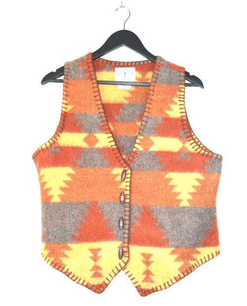 Western Print Wool Vest