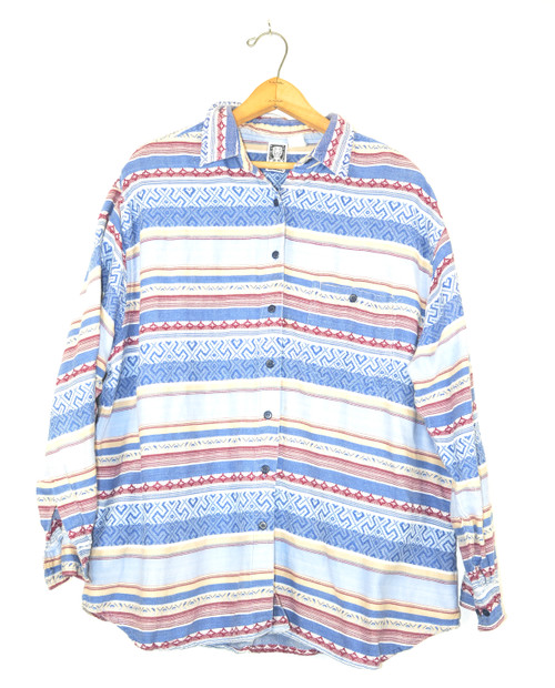 Blue Western Button Up