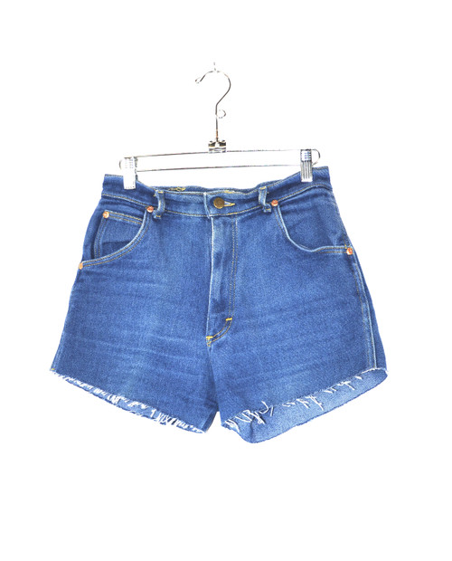 Lee Made in USA High Waisted Stretch Denim Cutoff Shorts