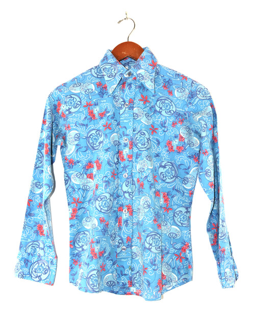 Levis Printed Large Collar Button Up Shirt