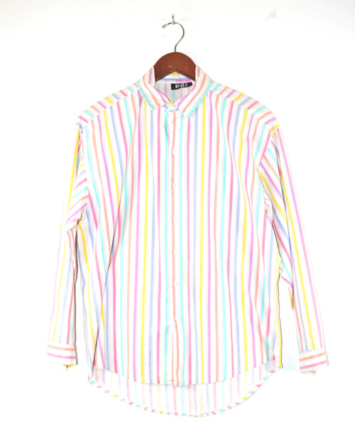 Pastel Striped Button Up Shirt