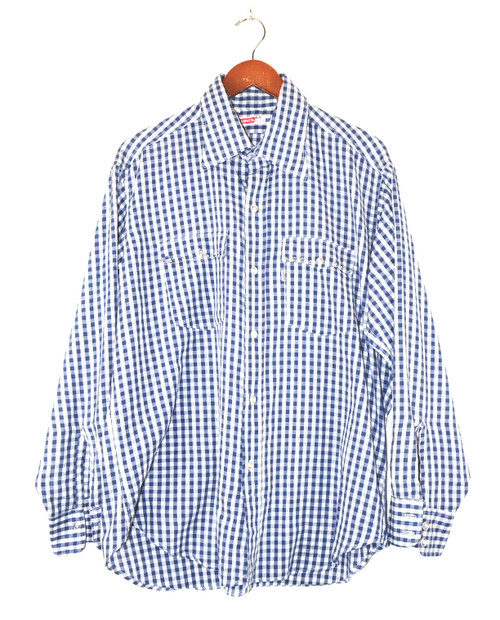 Levis Made in USA Checkered Western Shirt with Pocket Embellishments