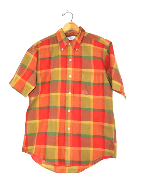 Made in Japan Perma Prest Short Sleeve Plaid Shirt