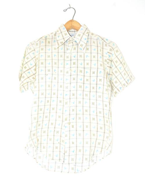 Short Sleeve Poly Blend Boxed Bird Shirt