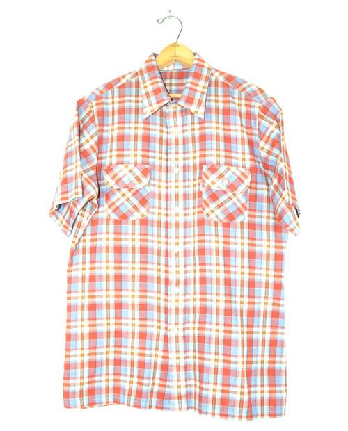 Levis Short Sleeve Two Pocket Plaid Shirt