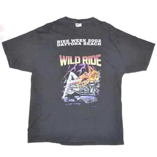 Daytona Beach Wild Ride Bike Week 2002 Tee