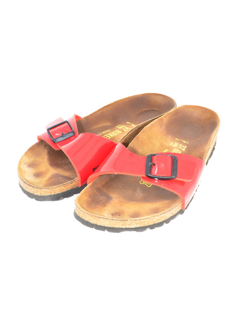 Shiny Red Birkenstocks