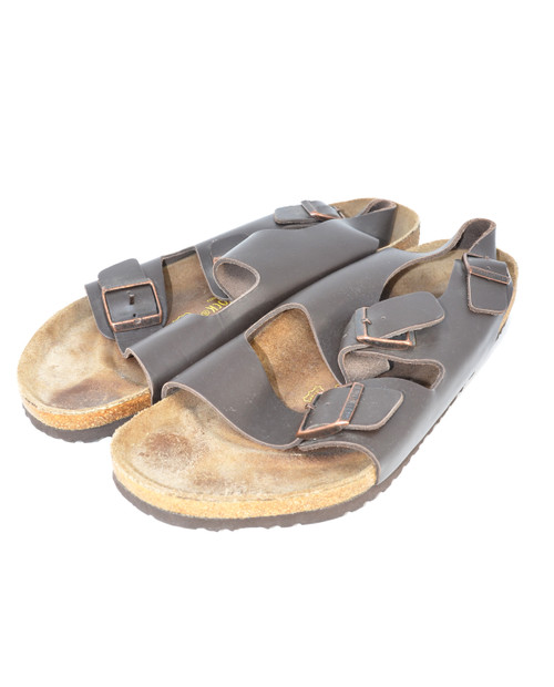 Brown Leather Birkenstocks - Men's 15