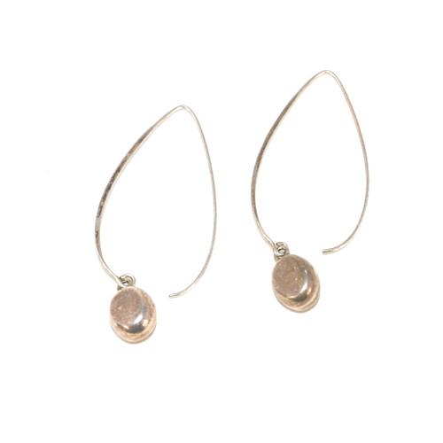 Sterling Silver Minimalist Earwire Drop earring