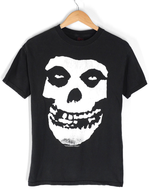 MISFITS Sleeveless Graphic Logo Band T-Shirt Black |  Small
