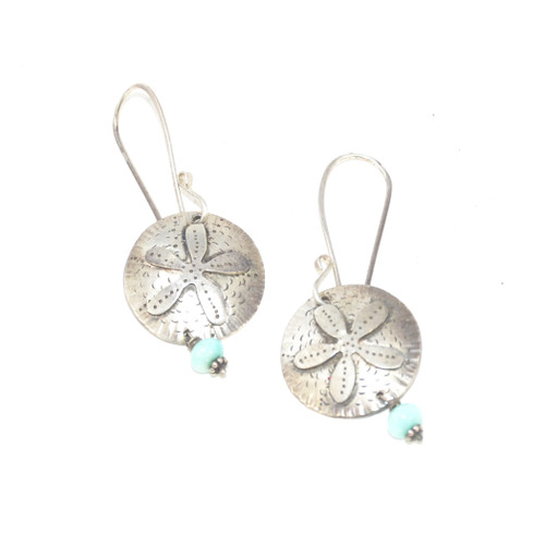 Sterling Silver Sanddollar Drop Earrings