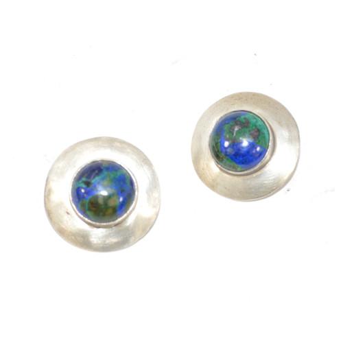 Sterling Silver Geometric Earth Earrings