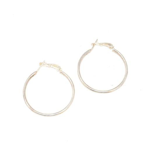 Sterling Silver Minimalist Hoop Earrings