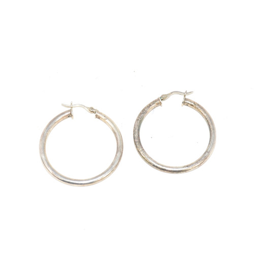 Sterling Silver Basic Hoop Earrings