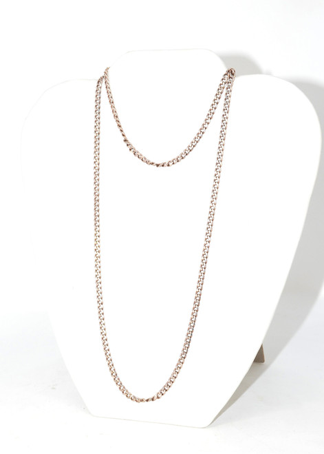 Sterling Silver Skinny Cuban Link Chain Necklace