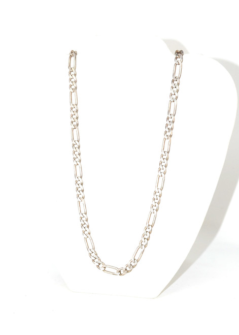 Sterling Silver Long Figaro Chain