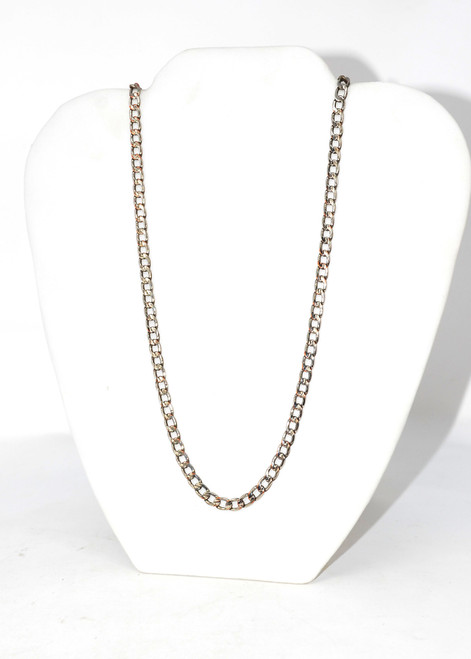 Sterling Silver Skinny Cuban Link Flat Chain Necklace