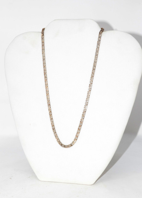 Sterling Silver Mariner Link Flat Chain Necklace